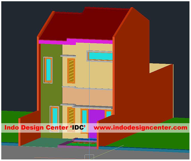 Fasad Rumah AutoCAD Desain 6