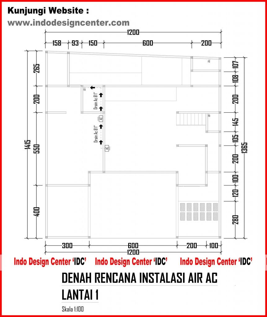 Denah Rencana Instalasi Air AC Lantai 1 Arsip - Kursus/Privat AutoCad 2D 3D, 3D Max,SAP2000 ...