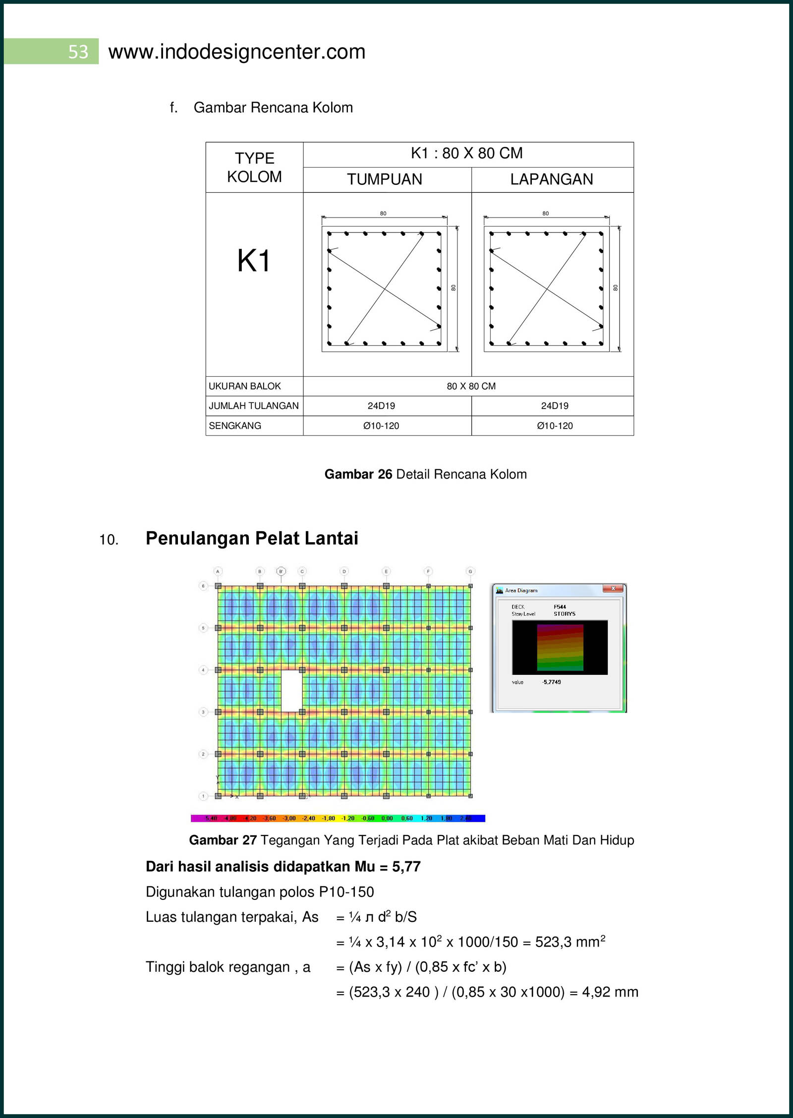 Perhitungan Analisa Struktur Apartemen 16 Lantai 053 Arsip ...