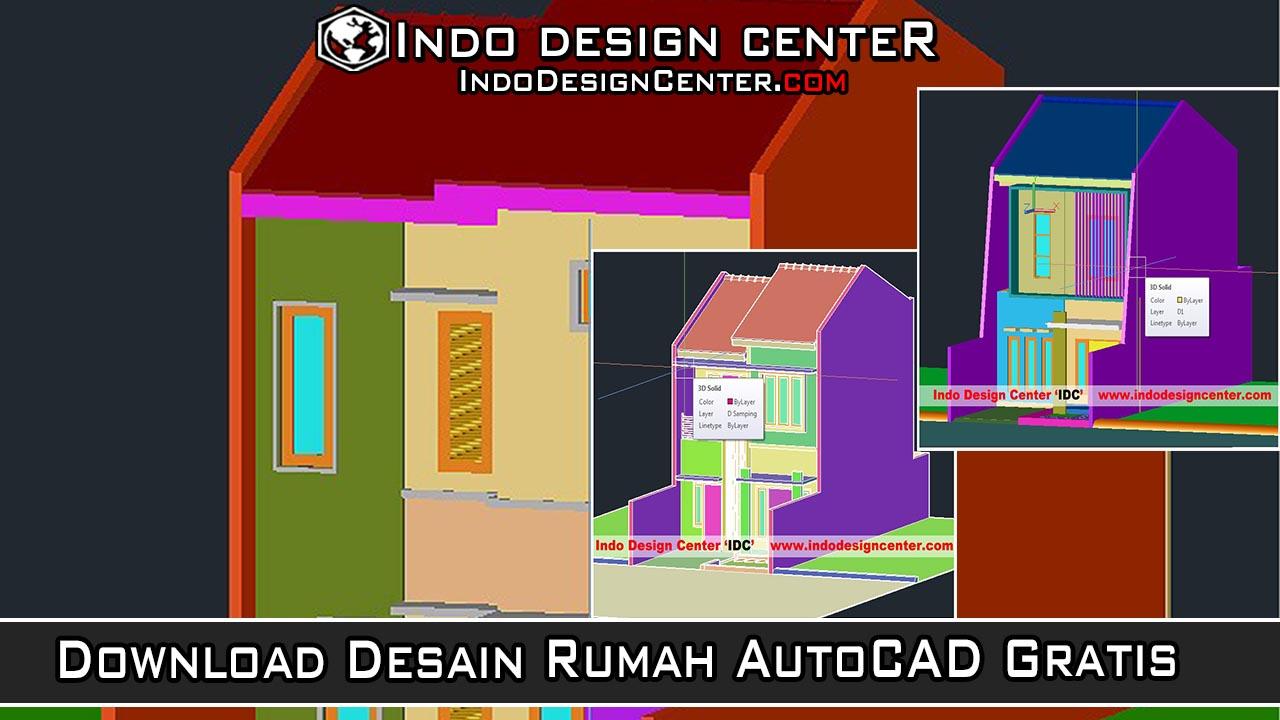 80 Desain Rumah Dengan Autocad 2012