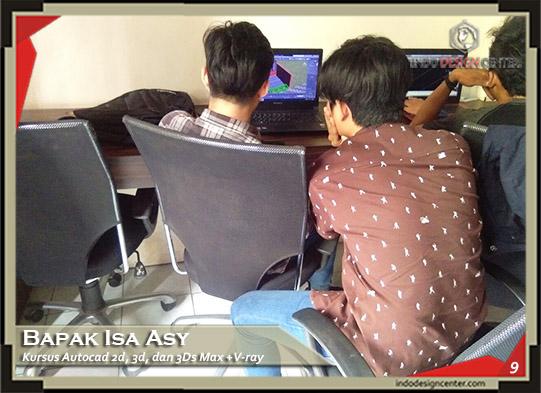 Kursus AutoCAD 2D, 3D dan 3Ds Max + Vray Isa Asy Di Bandung