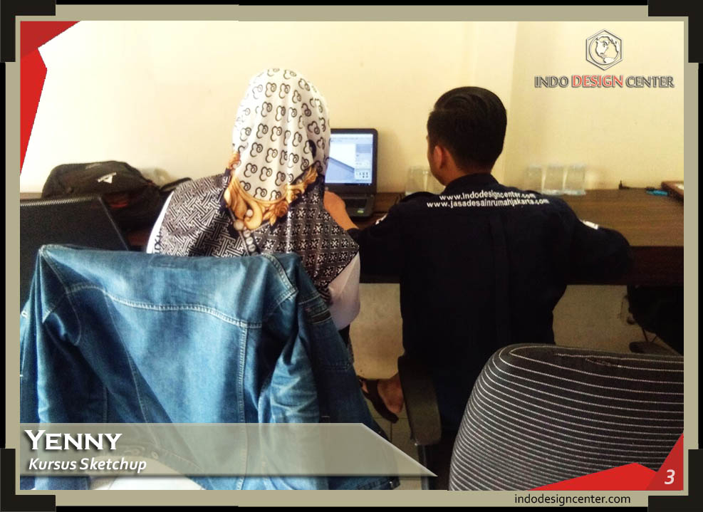 Kursus Sketchup + Vray Ibu Yenny R di Bandung