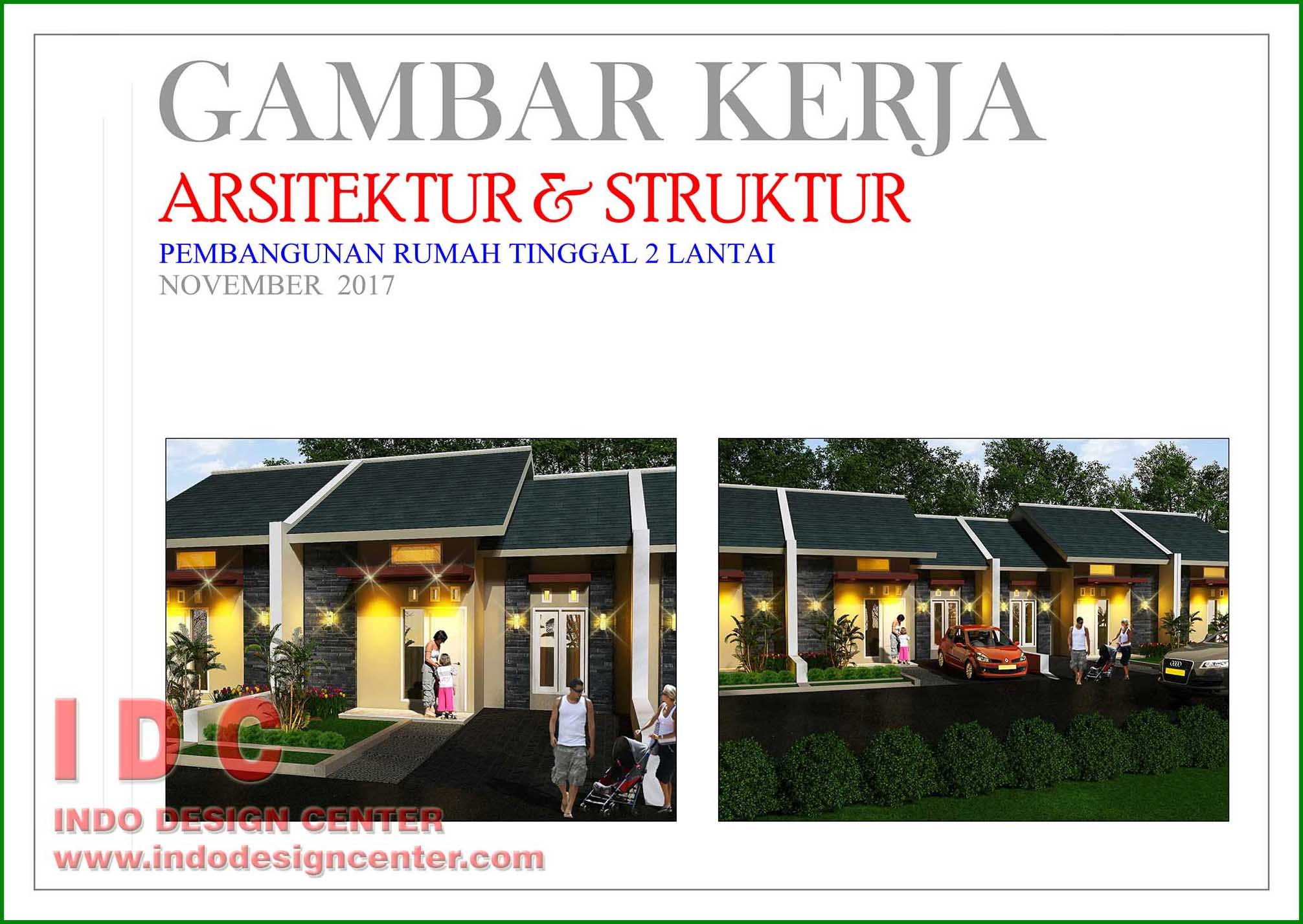 Gambar Kerja Rumah Tinggal Type 40 Indo Design Center