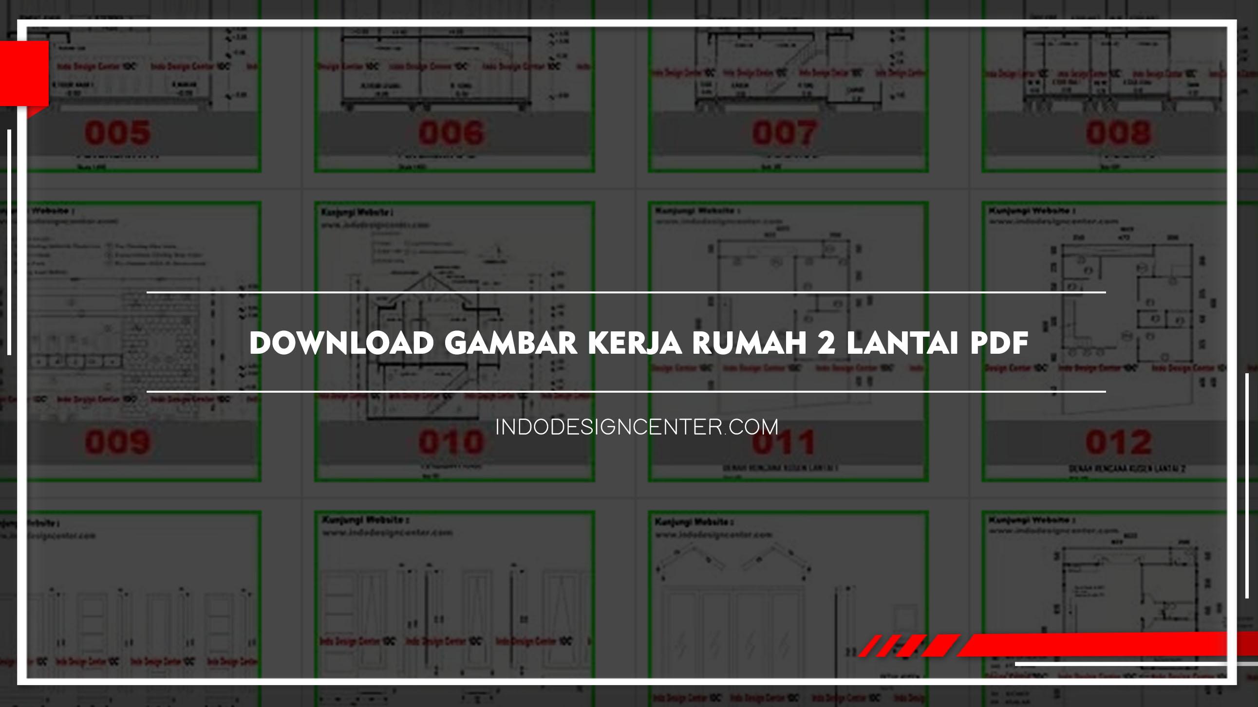 Download Gambar Kerja Rumah 2 Lantai Pdf Gratis