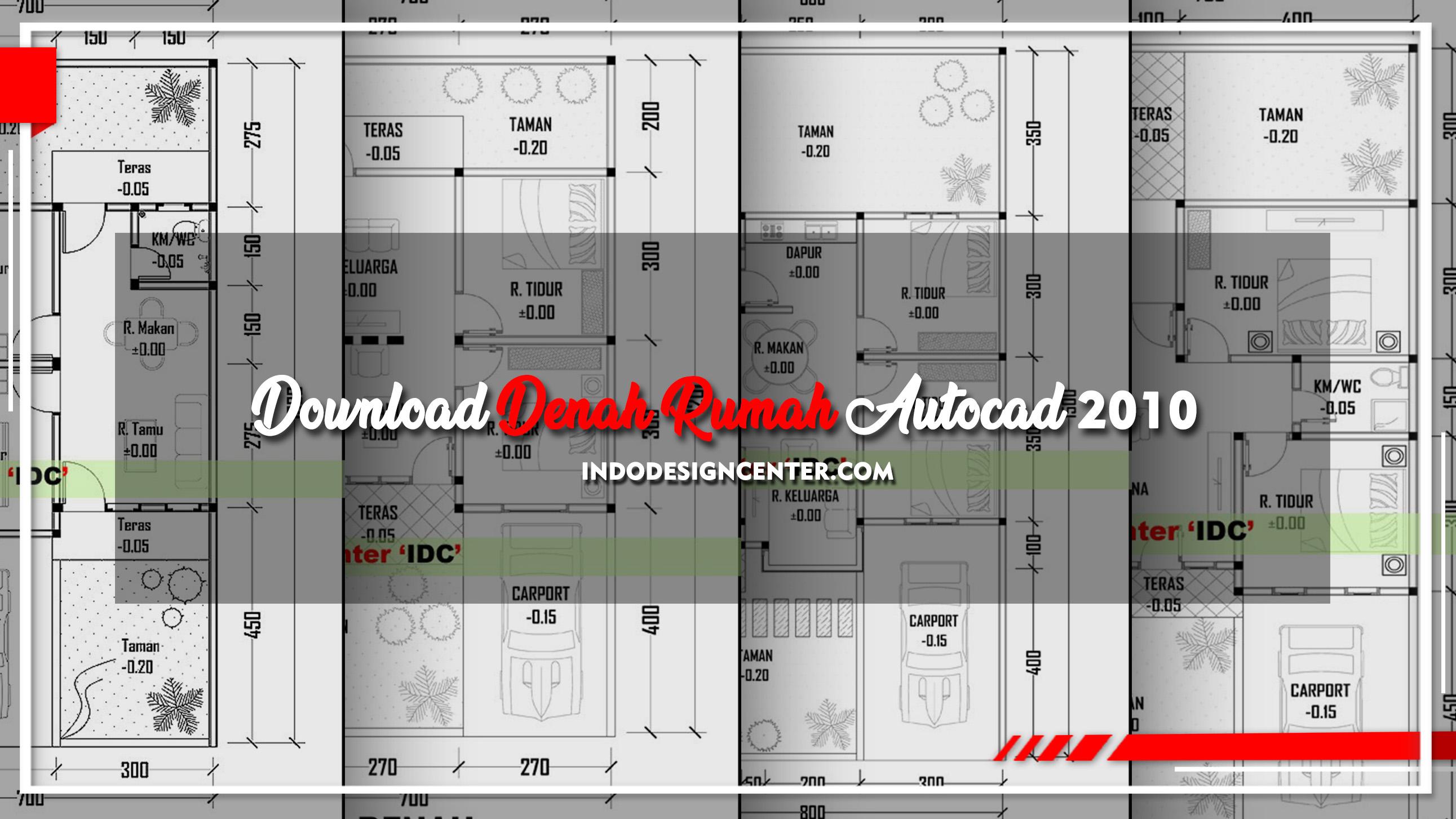 Download Denah Rumah Autocad 2010