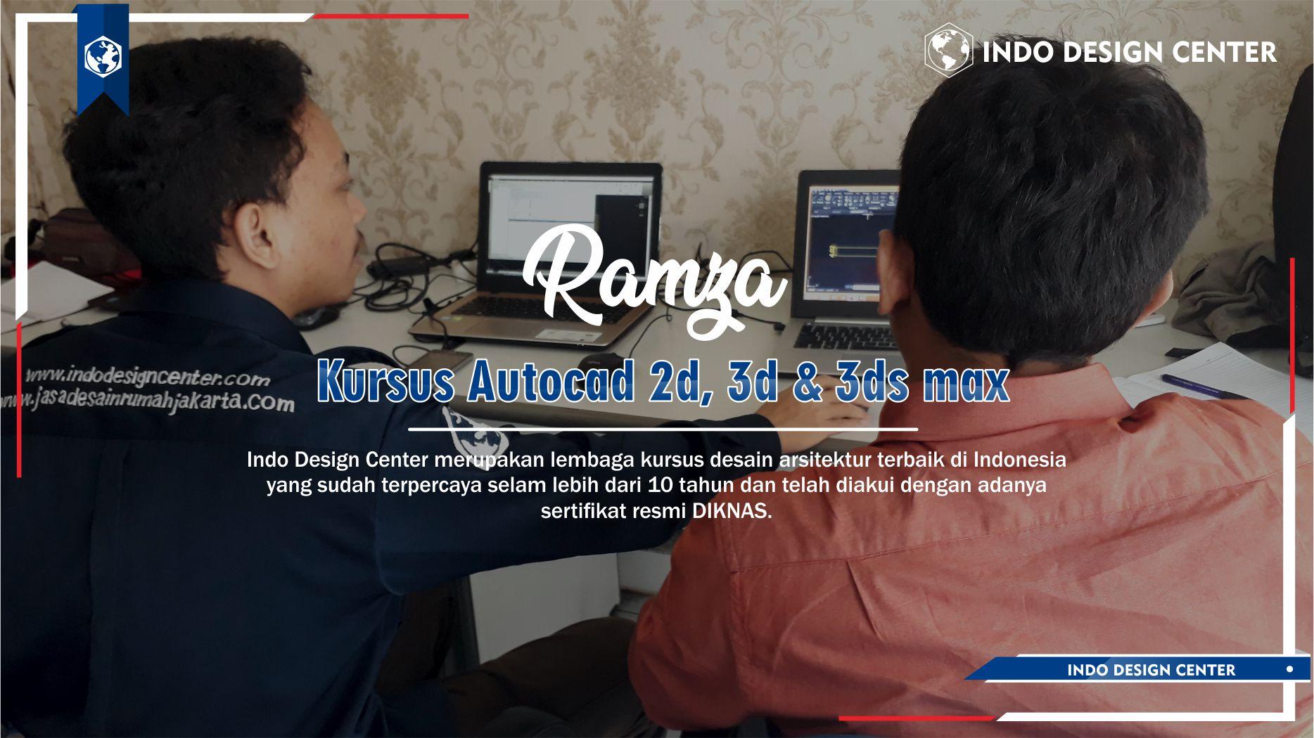 Kursus Autocad 2D, 3D & 3ds Max Pasar Minggu Jakarta Selatan Ramza