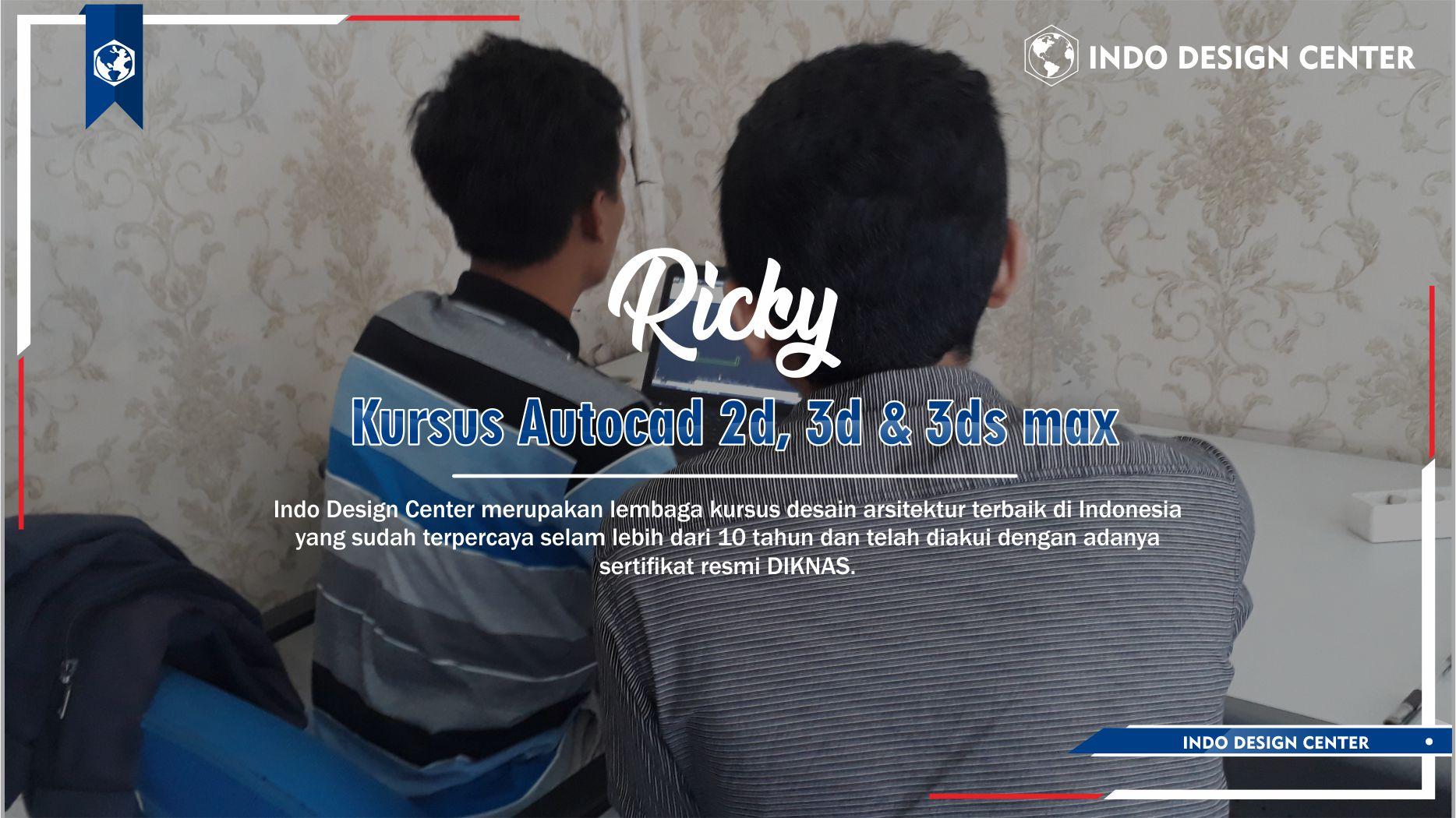 Kursus Autocad 2D, 3D & 3ds Max Pancoran Jakarta Selatan Ricky Hidayatullah