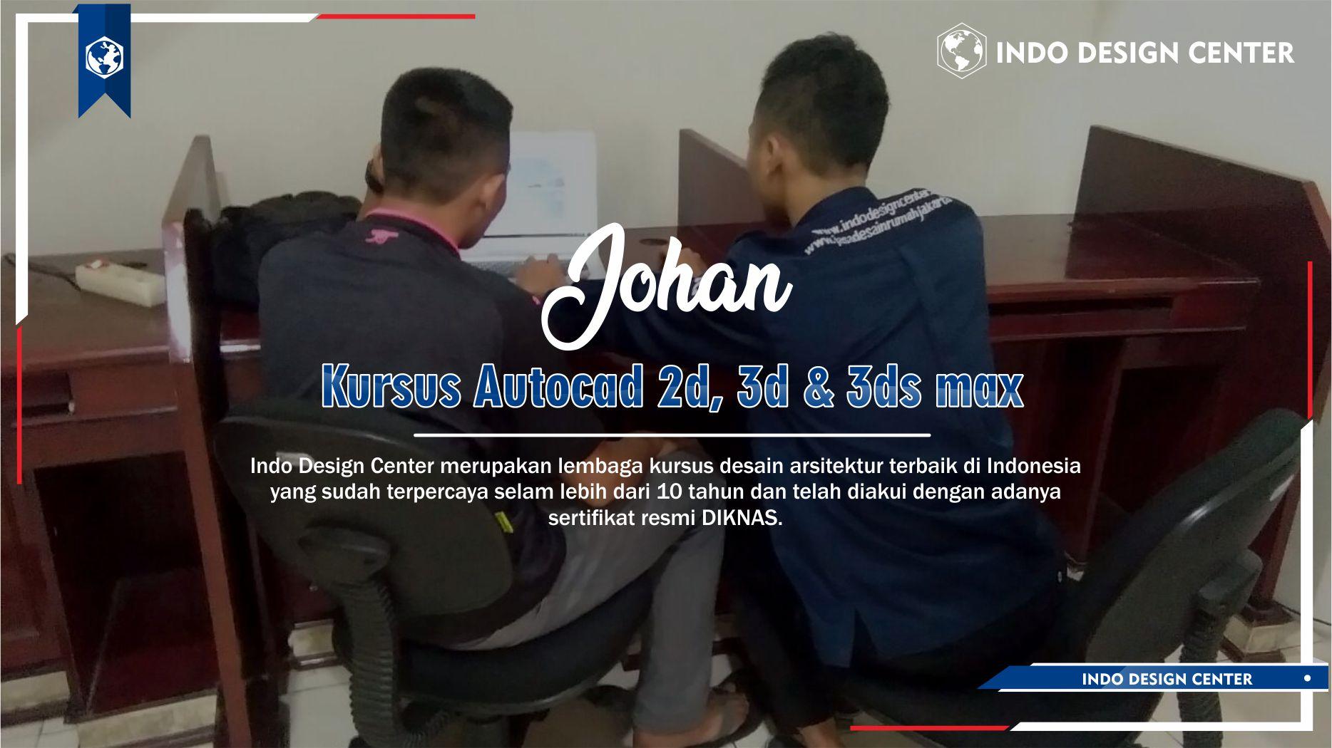 Kursus Autocad 2D, 3D & 3ds Max Pakal Surabaya Johan