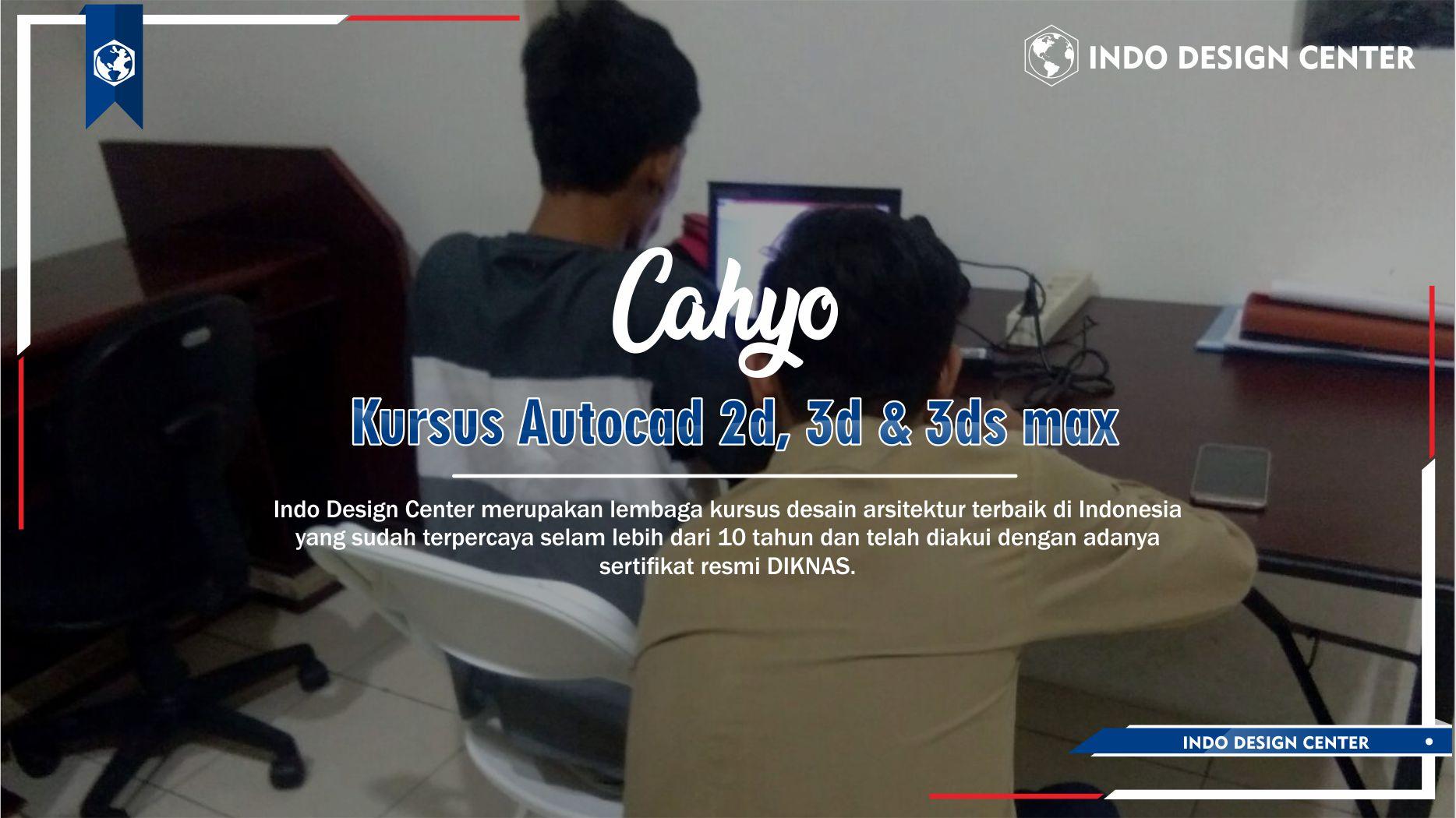 Kursus Autocad 2D, 3D & 3ds Max Neglasari Tangerang Cahyo Arif Rahman