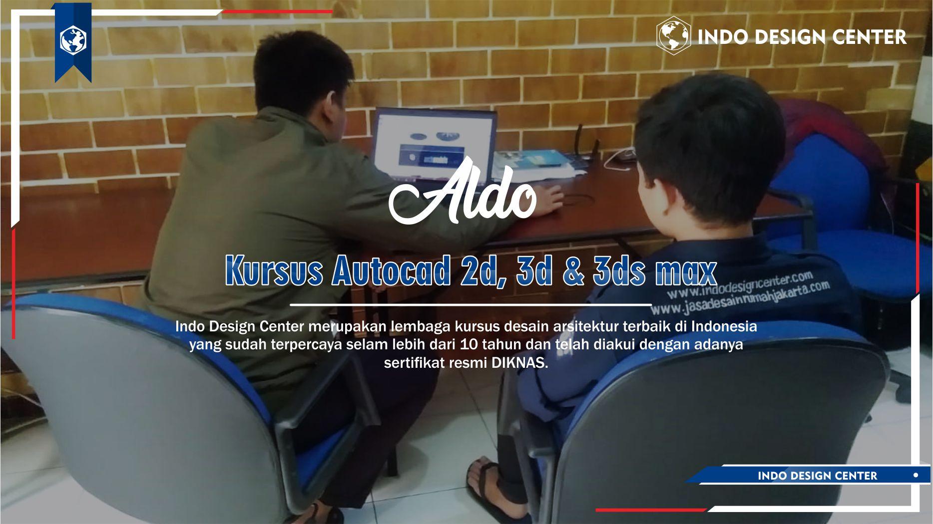 Kursus Autocad 2D, 3D & 3ds Max Rawa Lumbu Bekasi Aldo
