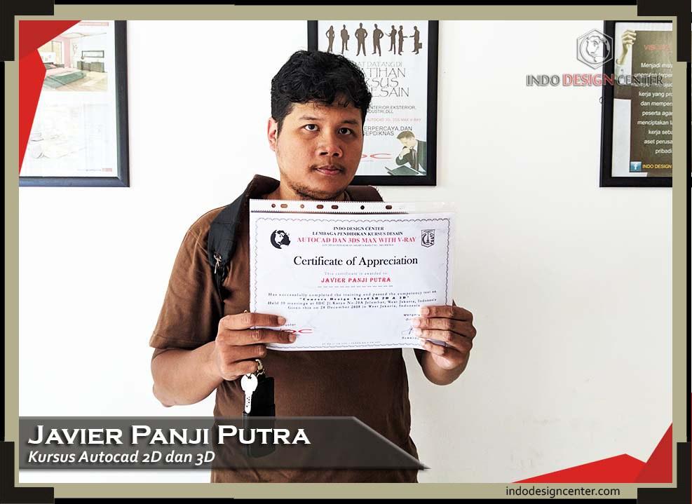 indodesigncenter - Javier Panji Putra - 2D & 3D - Sertifikat - 28 Desember 2018