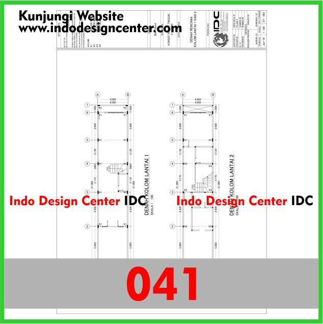 Contoh Gambar Kerja Autocad dwg Rumah Minimalis Di Yogyakarta Pak Albert (41)