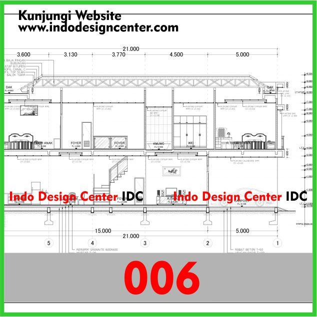 Contoh Gambar Kerja Autocad dwg Rumah Minimalis Di Yogyakarta Pak Albert (6)