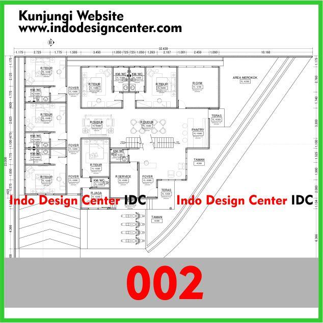 Gambar Kerja Rumah Kosan Autocad Dwg Minimalis 2 Lantai Yogyakarta (2)