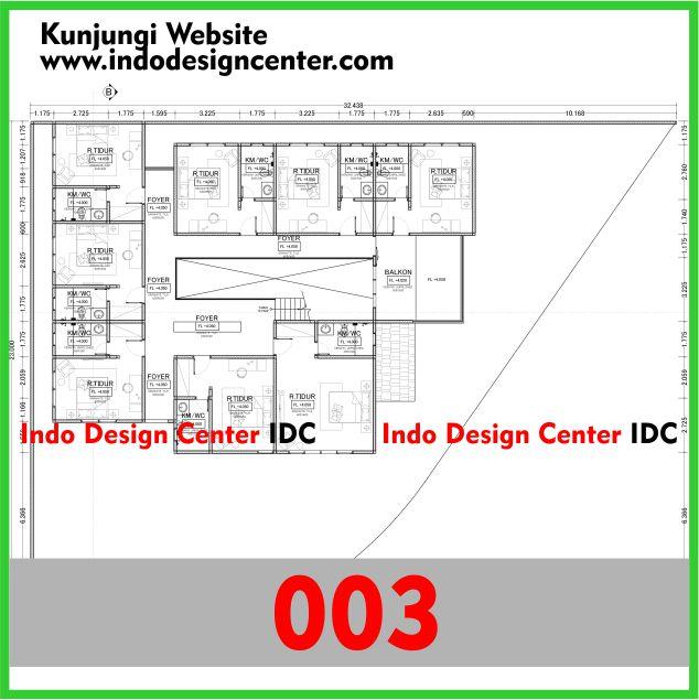 Gambar Kerja Rumah Kosan Autocad Dwg Minimalis 2 Lantai Yogyakarta (3)