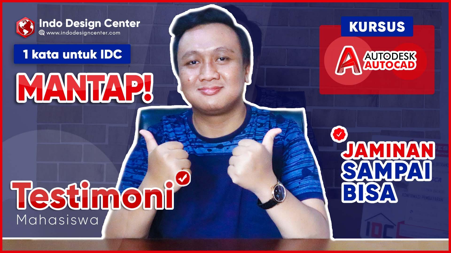 1 kata untuk idc MANTAP👍👍JAMINAN SAMPAI BISA Kursus Autocad 2D&3D @Testimoni Mahasiswa Di Bekasi-art